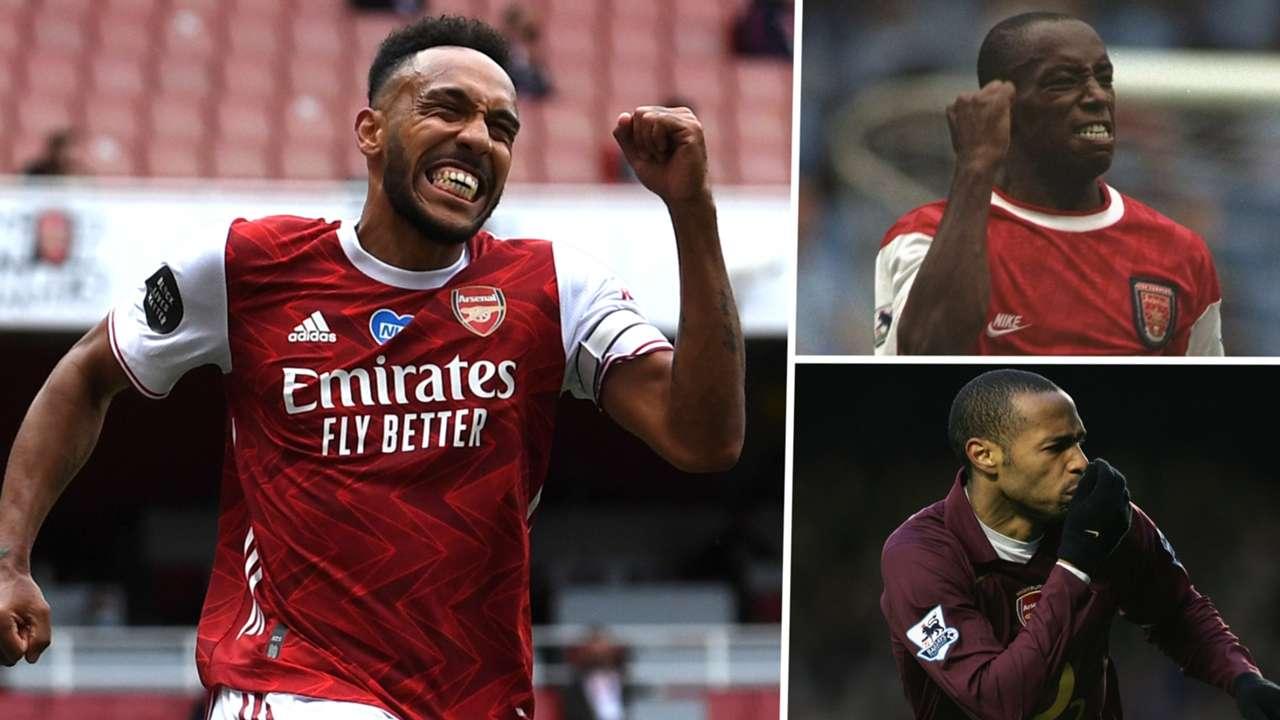 Pierre-Emerick Aubameyang Thierry Henry Ian Wright Arsenal GFX