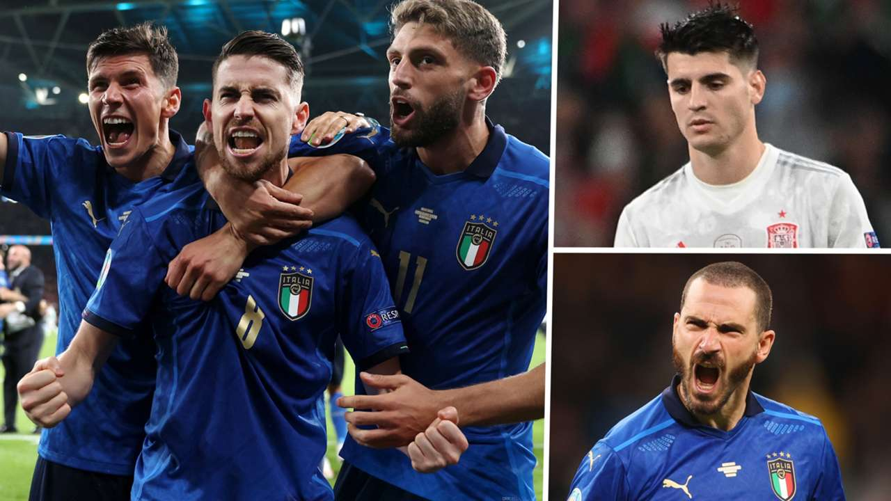 Jorginho Morata Bonucci Italy Spain GFX