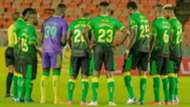 Farouk Shikhalo and Yanga SC squad.