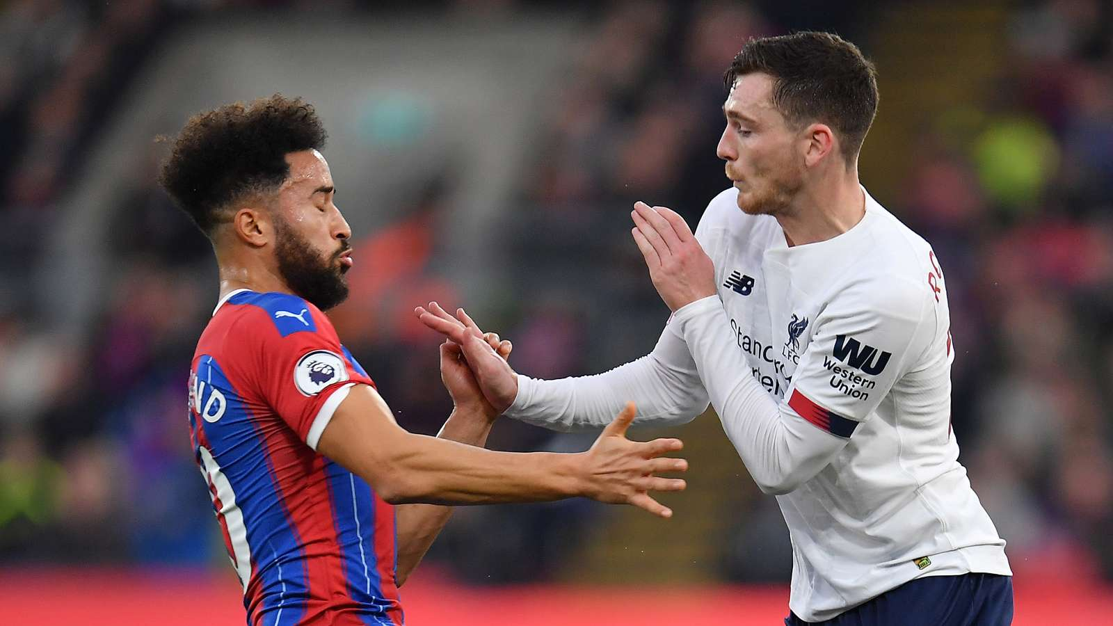 Andros Townsend Andy Robertson Crystal Palace Liverpool