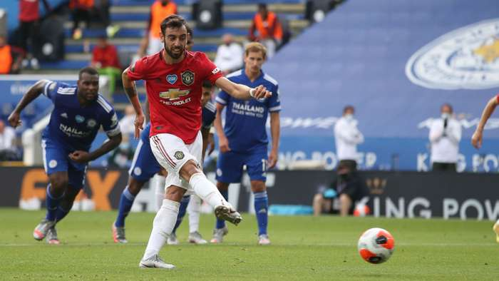 Bruno Fernandes Manchester United penalty 2019-20