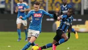 Piotr Zielinski Victor Moses Inter Napoli Coppa Italia