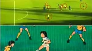 Chucky Lozano gol a lo Oliver Atom
