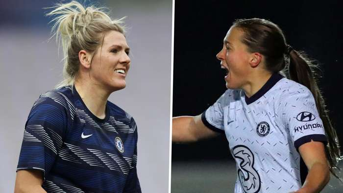 Millie Bright Fran Kirby Chelsea Women 2020-21 split