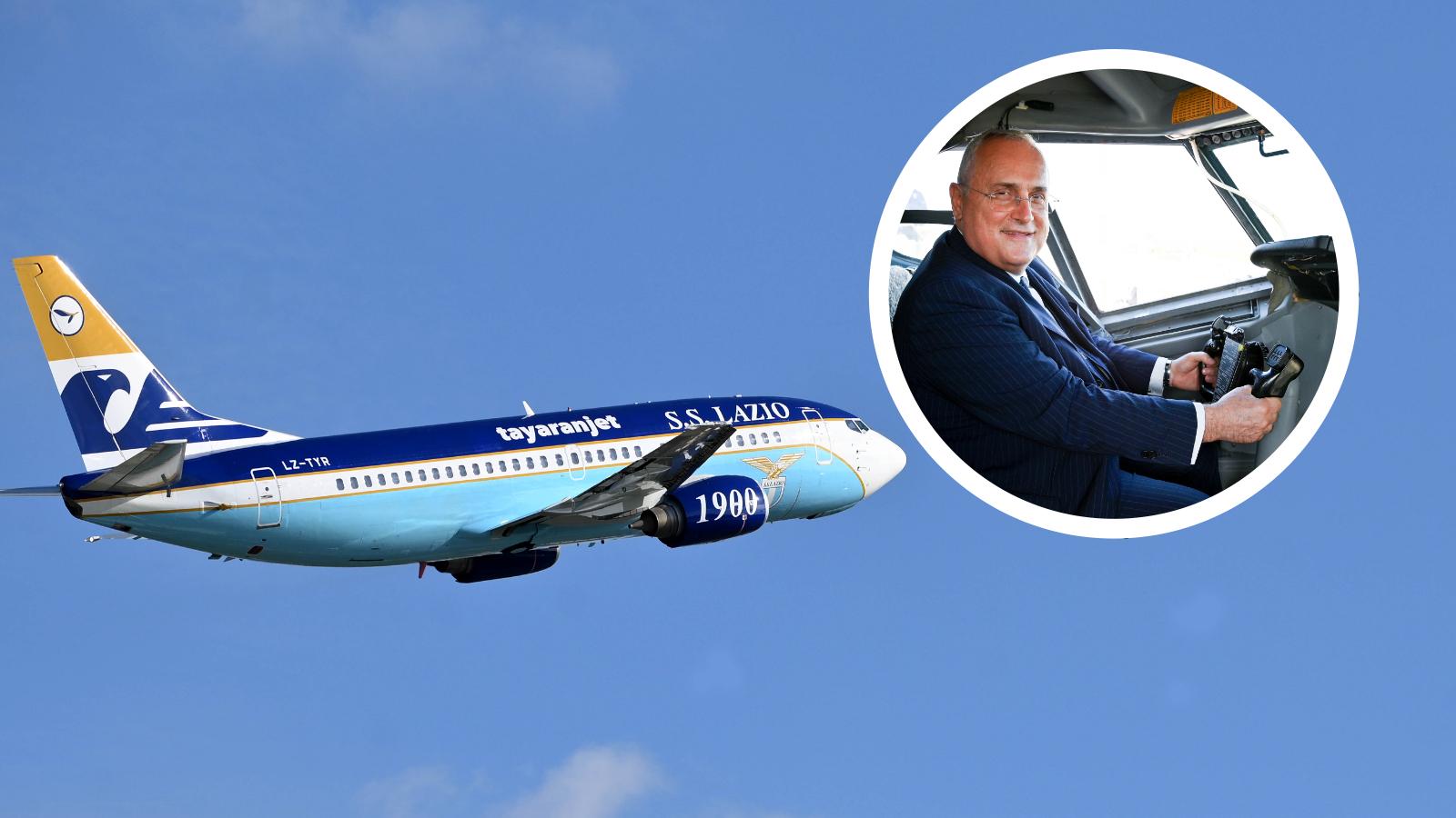 Lazio, Lotito regala alla squadra un Boeing 737 biancoceleste