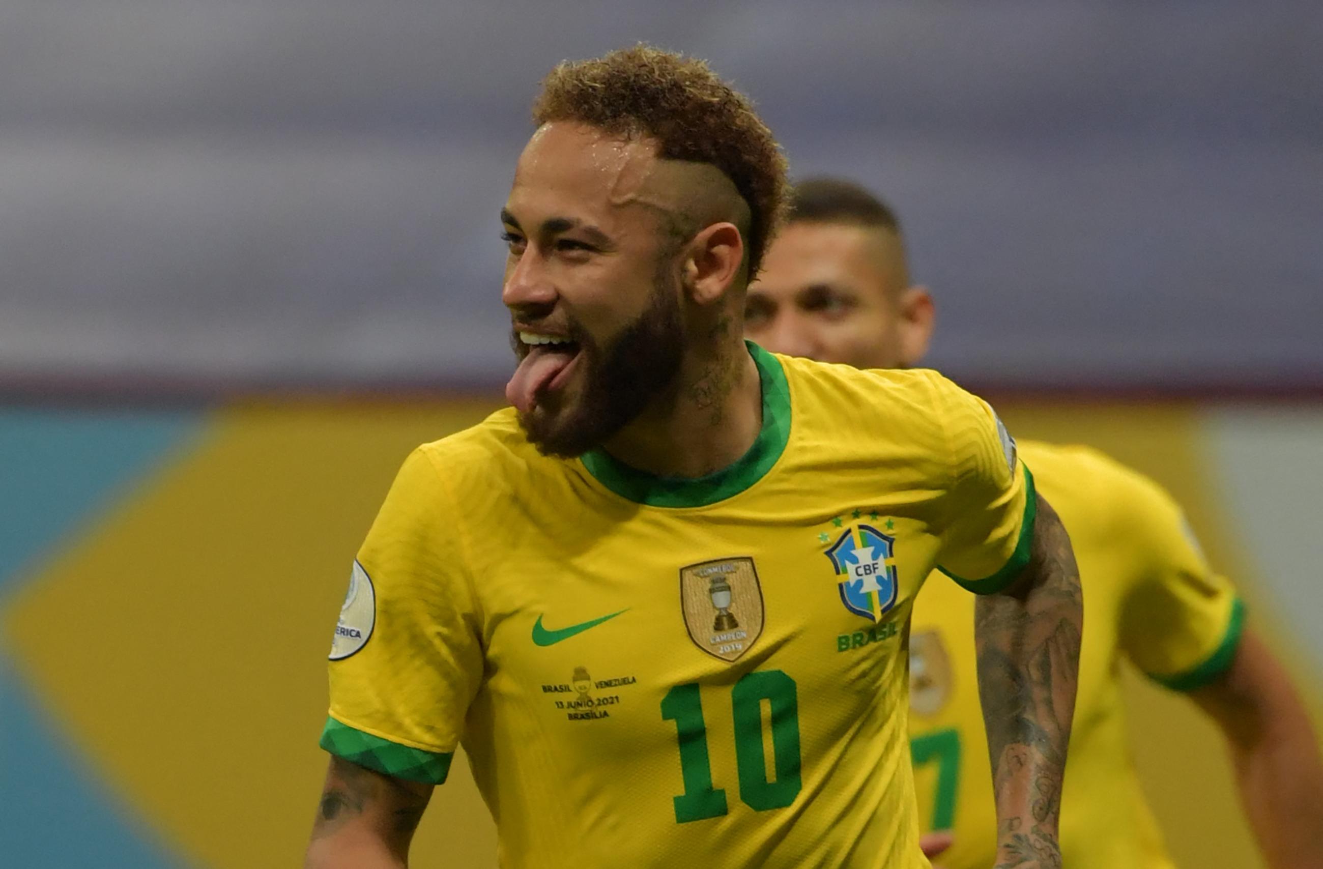 Neymar closing in on Sunil Chhetri, Pele after Venezuela goal