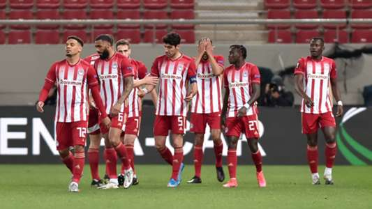 Kouka's double secures Greek Super League title for Olympaicos