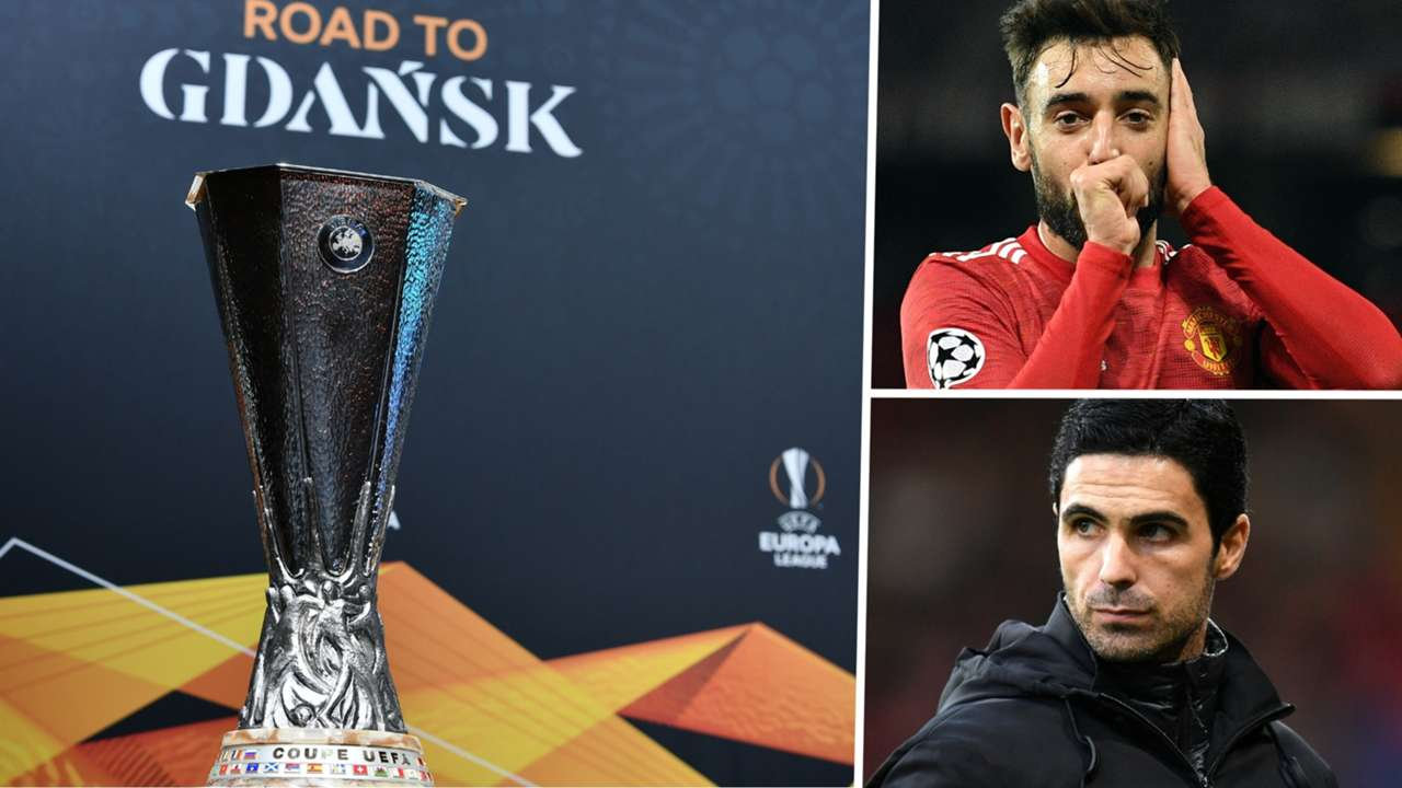 Europa League draw Bruno Fernandes Manchester United Mikel Arteta Arsenal