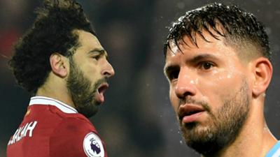 Salah and Aguero pics