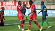 John Bocco and Meddie Kagere of Simba SC vs Singida United.