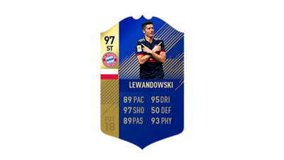 FIFA 18 Ultimate Team of the Season Lewandowski