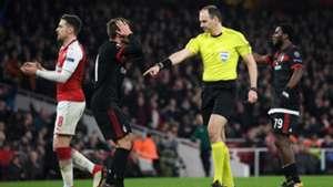 Referee Jonas Eriksson, Arsenal, Milan, Europa League, 15032018