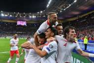 Turkey Goal Celebration vs. France 10/14/19