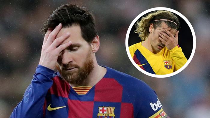 Lionel Messi, Antoine Griezmann overlay, Barcelona