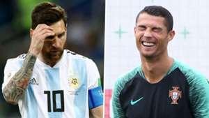 Messi Ronaldo international split