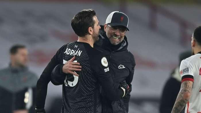 Klopp Adrian Liverpool 2021