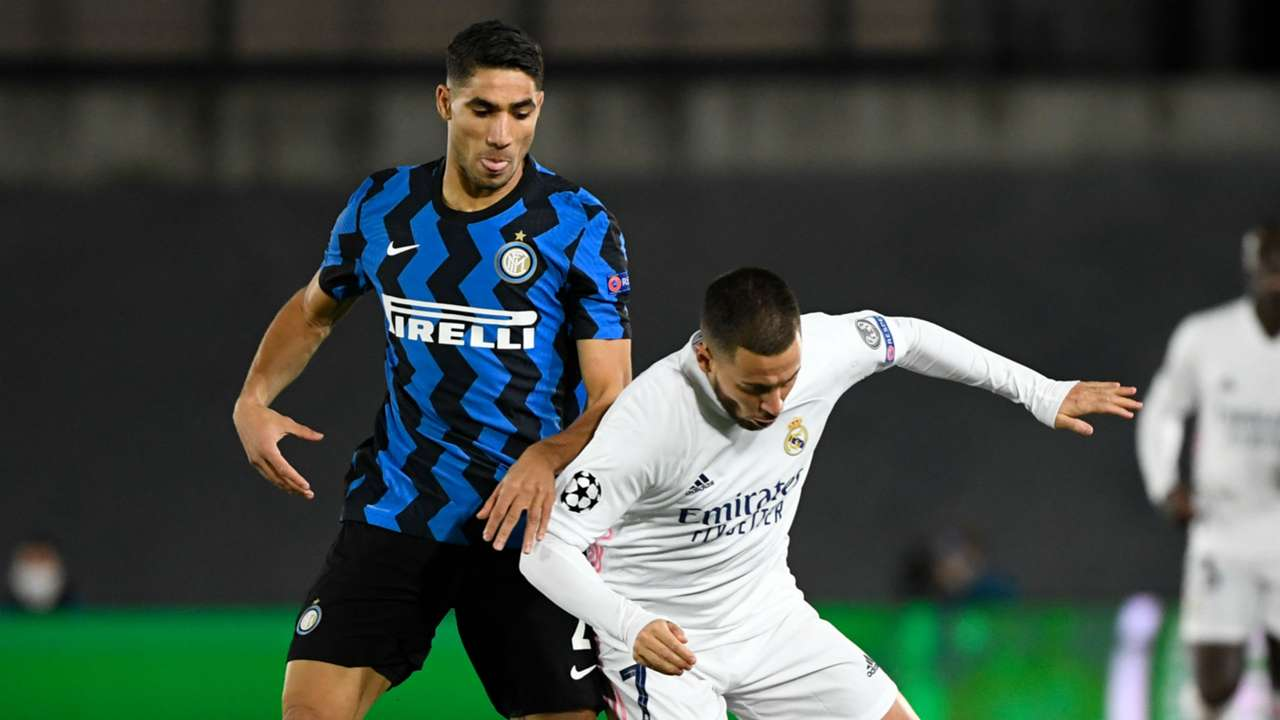 Hakimi Eden Hazard Real Madrid Inter Champions League