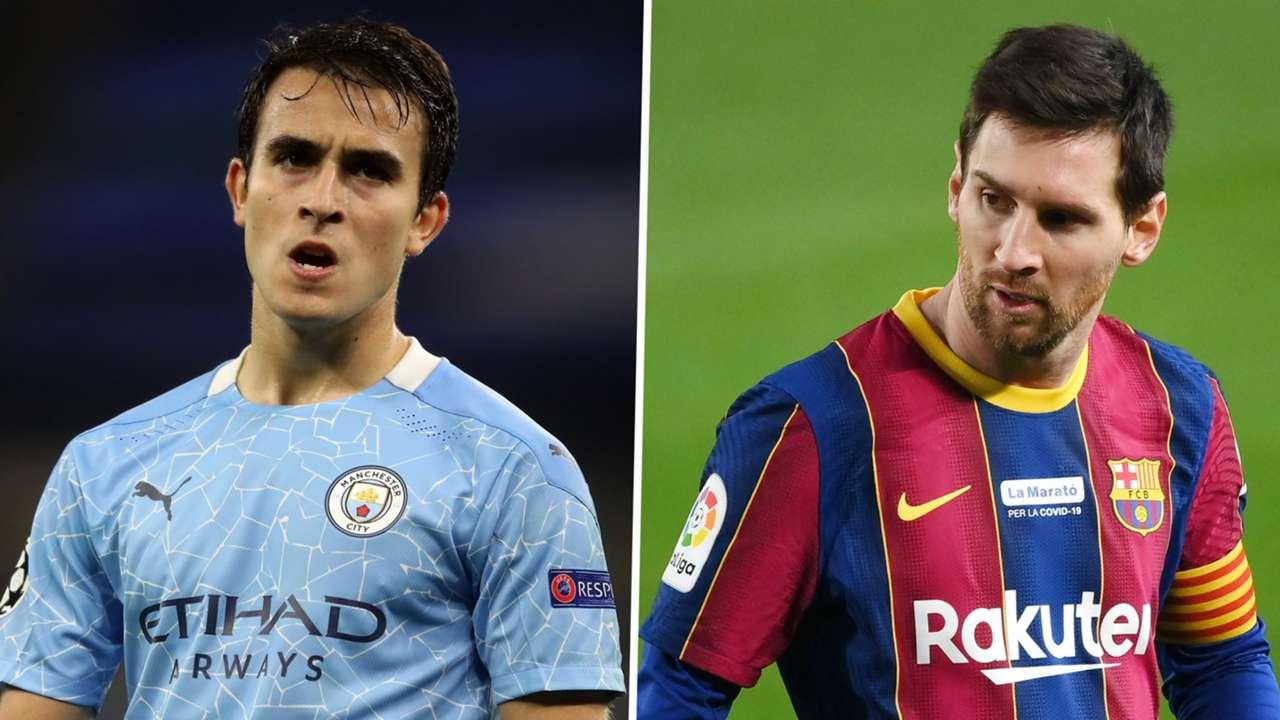 Eric Garcia Lionel Messi Man City Barcelona GFX