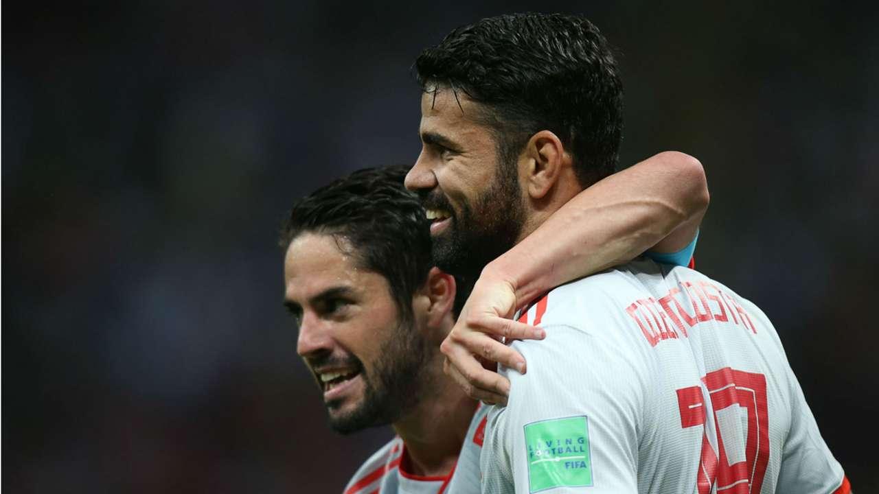 Diego Costa Isco Spain Iran World Cup 2018