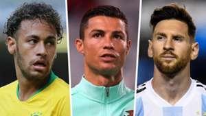 Neymar Cristiano Ronaldo Lionel Messi