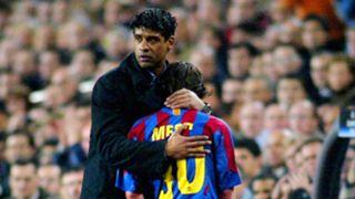 Frank Rijkaard Lionel Messi Barcelona