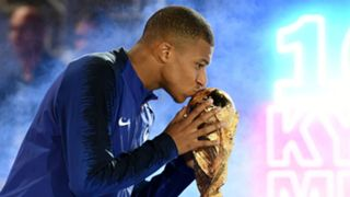 Kylian Mbappe France World Cup trophy