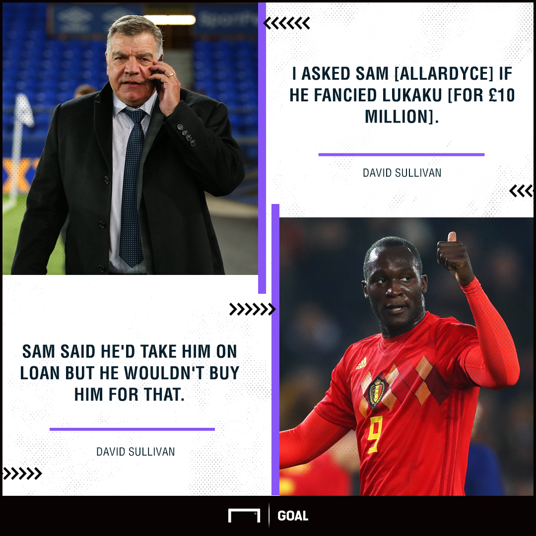 Sam Allardyce West Ham Romelu Lukaku snub