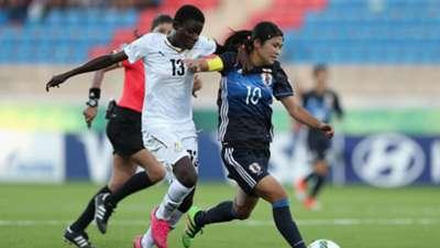 Ghana striker Olivia Anokye