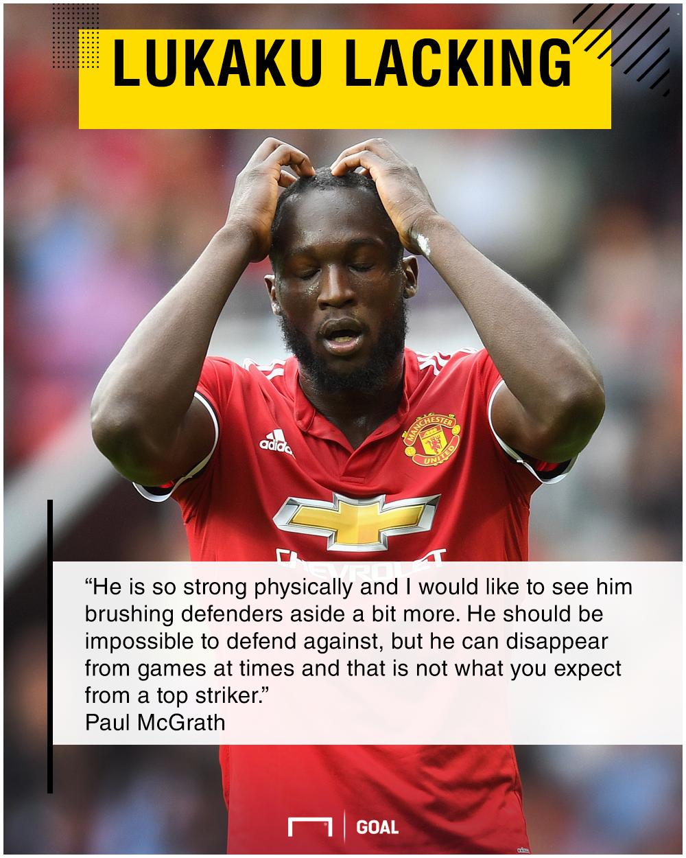 Romelu Lukaku not a top striker Paul McGrath