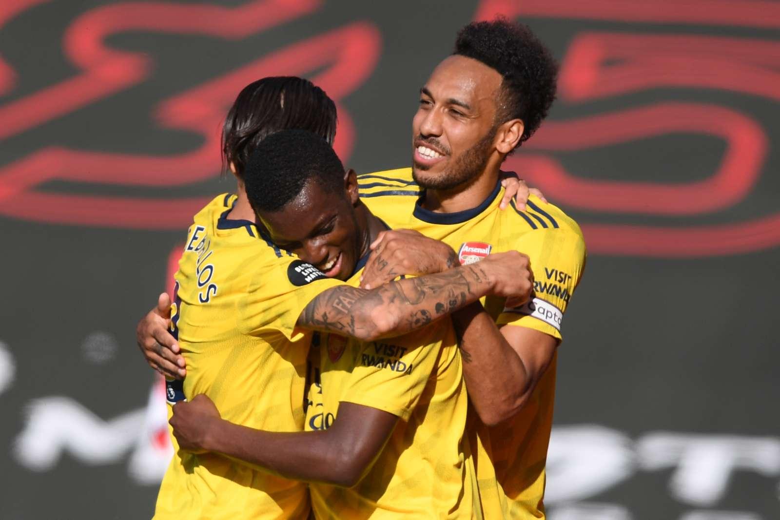 Nketiah Aubameyang Arsenal 2020