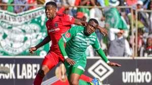 Thamsanqa Gabuza, Orlando Pirates & Alfred Ndengane, Bloemfontein Celtic, August 2018