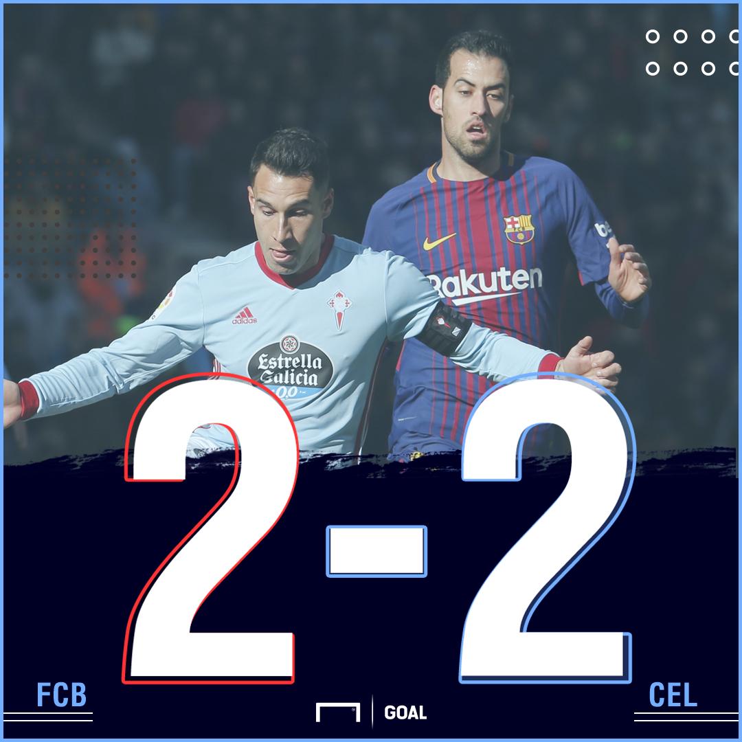 Barca Celta score