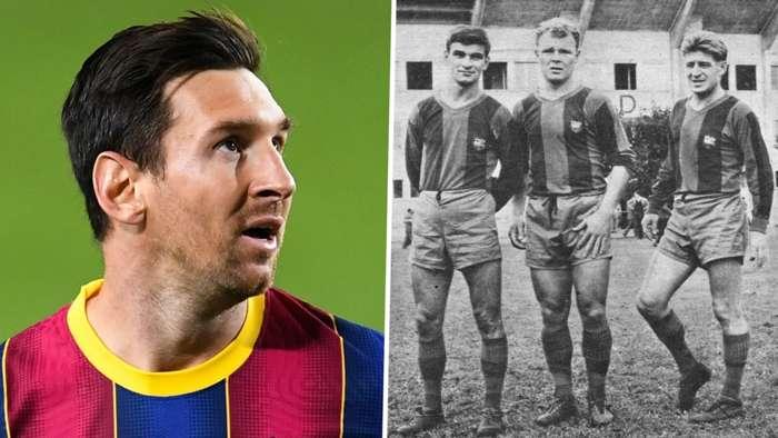 Lionel Messi Barcelona Laszlo Kubala Zoltan Czibor Sandor Kocsis