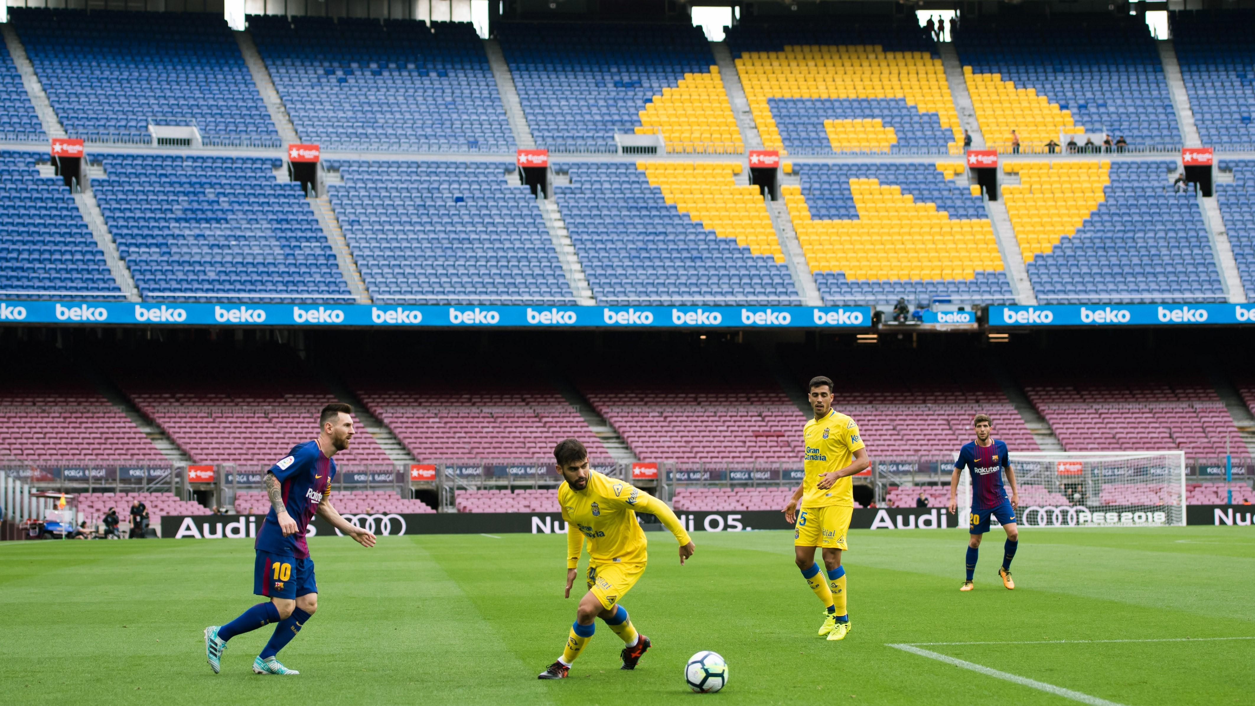 Lionel Messi Camp Nou Barcelona Las Palmas LALiga 01102017