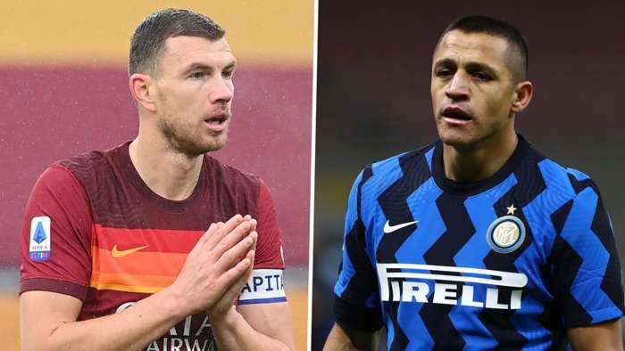 Alexis Sanchez Edin Dzeko Inter Roma GFX