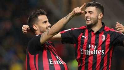 Suso Patrick Cutrone Milan Genoa Serie A