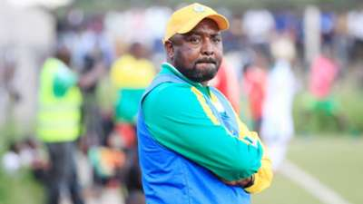 Mathare United coach Francis Kimanzi in action.