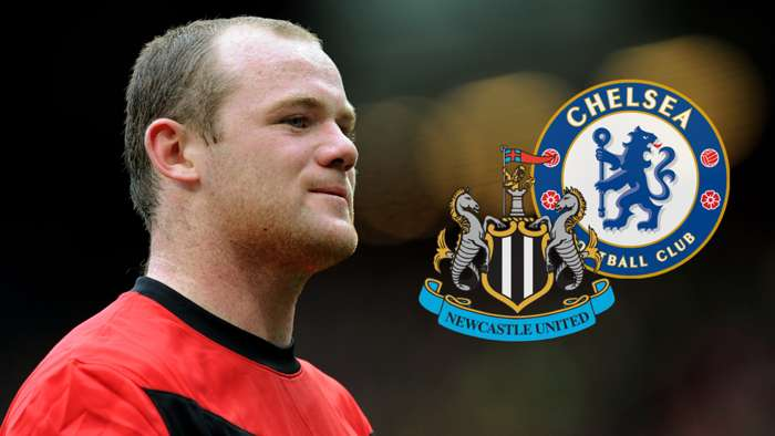 Wayne Rooney Manchester United Newcastle Chelsea