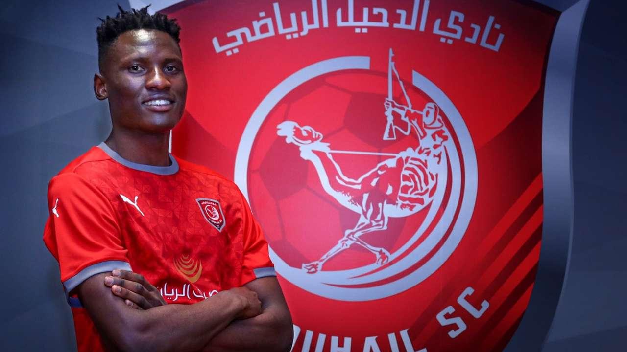 Michael Olunga of Al Duhail SC of Kenya and Harambee Stars.