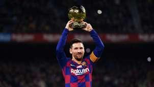 Messi Ballon d'ore camp nou Barcelona Mallorca