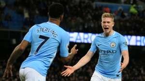 De Bruyne Sterling Manchester City West Brom Premier League 01312018