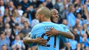 David Silva Raheem Sterling Manchester City Stoke City
