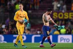 Marc Andre ter Stegen Lionel Messi Barcelona 2019
