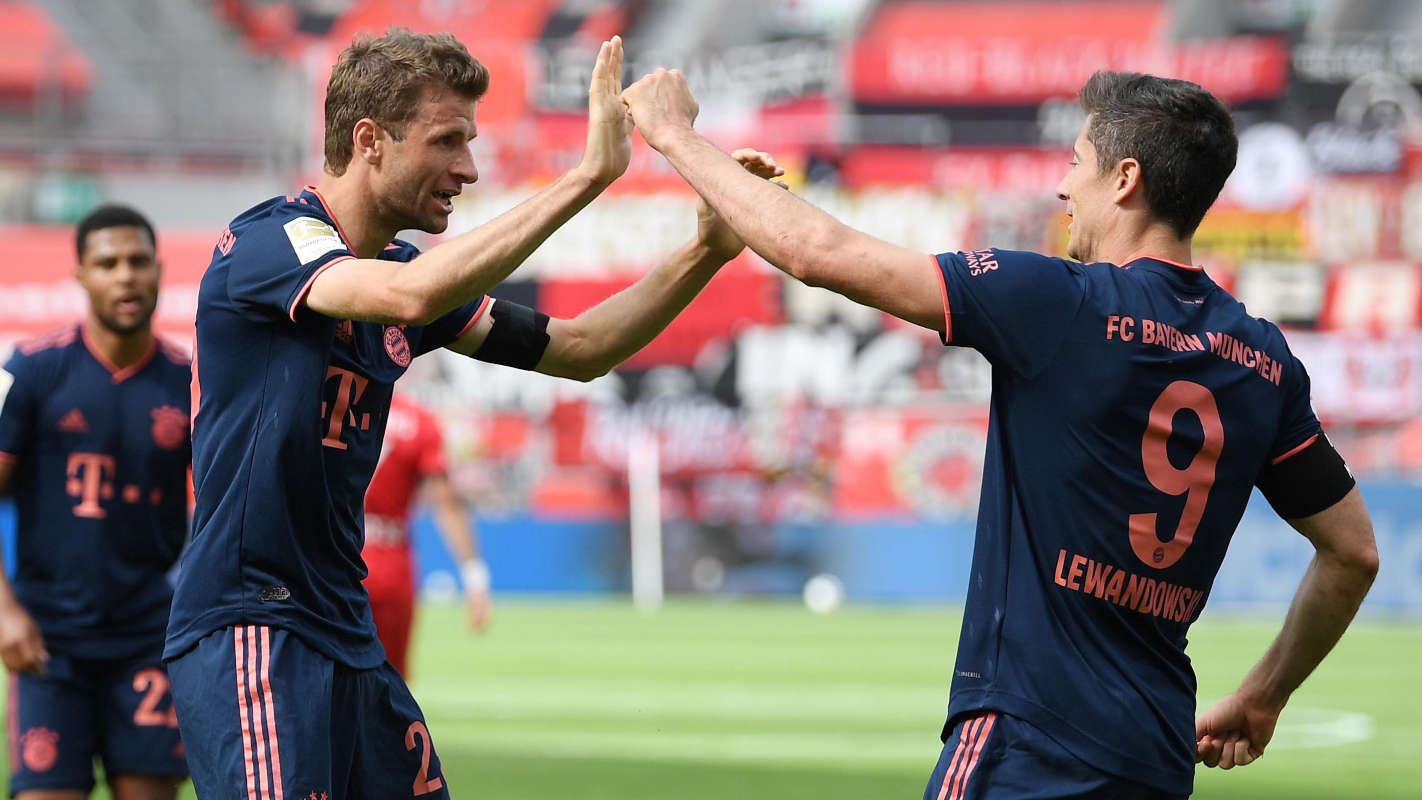 Lewandowski hits personal best with 44th goal as Bayern Munich team-mate Muller matches De Bruyne record