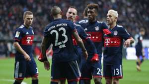 Bayern celebrate vs Eintracht