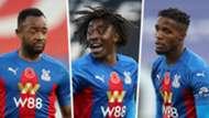 Jordan Ayew, Eberechi Eze, Wilfried Zaha of Crystal Palace
