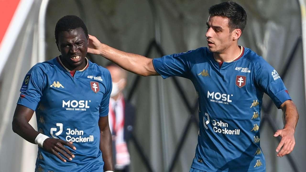 Lamine Gueye Fabien Centonze Nimes Metz Ligue 1 01112020