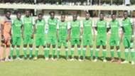 Gor Mahia line up before taking on Lobi Stars of Nigeria.