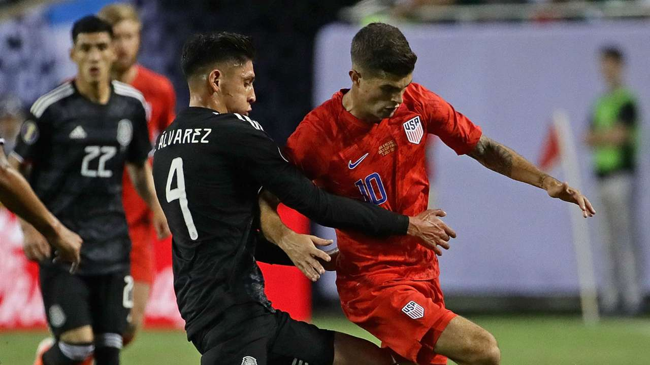 Christian Pulisic Edson Alvarez Mexico USA USMNT Gold Cup 2019