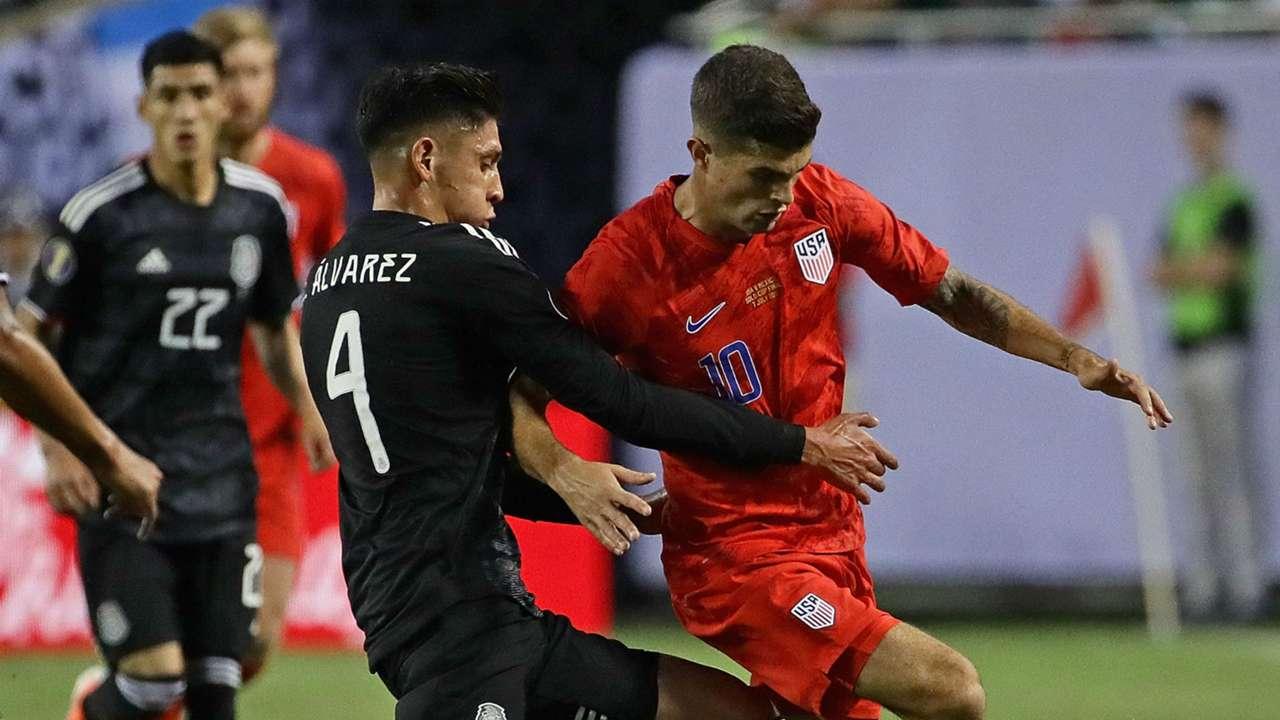 Christian Pulisic Edson Alvarez Mexico USA USMNT Gold Cup 2019